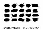 set of black round ink splashes ... | Shutterstock .eps vector #1192427254