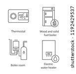 heating linear icons set.... | Shutterstock .eps vector #1192429537