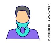 cervical collar color icon.... | Shutterstock .eps vector #1192429564