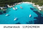 aerial photo of exotic bay with ... | Shutterstock . vector #1192429834