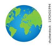 earth planet illustration  | Shutterstock .eps vector #1192431994