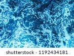 blue deep sea foaming water... | Shutterstock . vector #1192434181