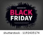 black friday sale web banner... | Shutterstock .eps vector #1192435174