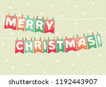 merry christmas greeting card.... | Shutterstock .eps vector #1192443907