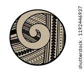 spiral symbol  based on silver... | Shutterstock .eps vector #1192446937
