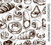 breakfast pastries and brownies ... | Shutterstock .eps vector #1192452931