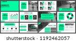 business presentation slides...   Shutterstock .eps vector #1192462057