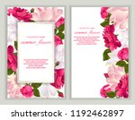 vector banners set with roses... | Shutterstock .eps vector #1192462897