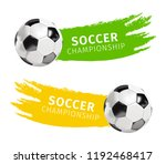 soccer ball set with grunge... | Shutterstock .eps vector #1192468417