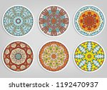 decorative round ornaments set  ... | Shutterstock .eps vector #1192470937