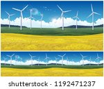 illustration of a picturesque... | Shutterstock .eps vector #1192471237