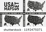 united states of america maps.... | Shutterstock .eps vector #1192475371