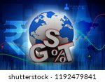 3d rendering gst tax india with ...   Shutterstock . vector #1192479841