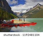 lake louise in banff national...   Shutterstock . vector #1192481104