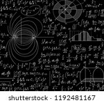 scientific math vector seamless ... | Shutterstock .eps vector #1192481167