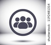 man group vector icon | Shutterstock .eps vector #1192481314