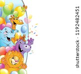 cartoon animals in multi... | Shutterstock .eps vector #1192482451