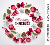 merry christmas background.... | Shutterstock .eps vector #1192494211