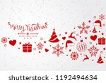 christmas background with... | Shutterstock .eps vector #1192494634