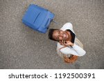 portrait from above of happy... | Shutterstock . vector #1192500391