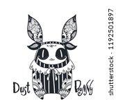 hand drawn creepy doll. dust... | Shutterstock .eps vector #1192501897