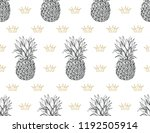 seamless pineapple pattern ... | Shutterstock .eps vector #1192505914