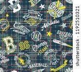 college sport graphics collage... | Shutterstock .eps vector #1192510321
