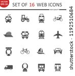 transport. set of 16 high... | Shutterstock .eps vector #1192510684