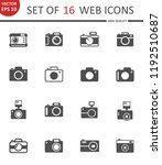 camera. set of 16 high quality... | Shutterstock .eps vector #1192510687