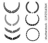 set of laurel wreath... | Shutterstock .eps vector #1192516564