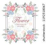 vector flower design. colorful... | Shutterstock .eps vector #1192518067