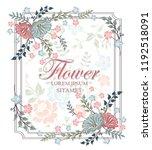 vector flower design. colorful... | Shutterstock .eps vector #1192518091