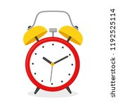 alarm clock  wake up icon. flat ... | Shutterstock .eps vector #1192525114