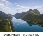 aerial view of a road in... | Shutterstock . vector #1192526437
