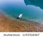 aerial view of a boat on... | Shutterstock . vector #1192526467