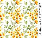 watercolor flower seamless... | Shutterstock . vector #1192528597