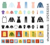 different kinds of clothes... | Shutterstock .eps vector #1192532014