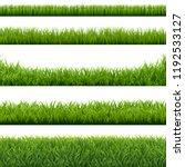 green grass borders set... | Shutterstock .eps vector #1192533127