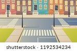 crossroad cartoon street urban...   Shutterstock .eps vector #1192534234