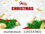 merry christmas. design with... | Shutterstock .eps vector #1192537801