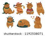 set cute dog with different... | Shutterstock .eps vector #1192538071