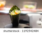 temaki california sushi with...   Shutterstock . vector #1192542484