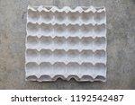 empty egg paper tray  top view   Shutterstock . vector #1192542487