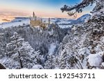 neuschwanstein castle during... | Shutterstock . vector #1192543711