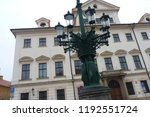 prague building and street ... | Shutterstock . vector #1192551724