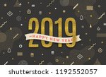 happy new year 2019   holidays... | Shutterstock .eps vector #1192552057