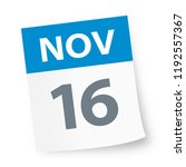 november 16   calendar icon  ... | Shutterstock .eps vector #1192557367