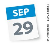 september 29   calendar icon  ... | Shutterstock .eps vector #1192558567