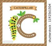letter c uppercase cute... | Shutterstock .eps vector #1192561504