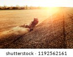 agriculture machine harvesting... | Shutterstock . vector #1192562161